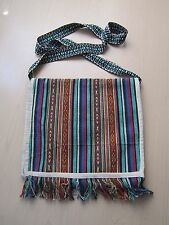 Handmade Boho-chic Shoulder Bag China Minority Ethnic Textile Handbag Stripe 1
