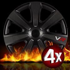 4x Radkappen 14 Zoll VR Black Pro Carbon Radzierblenden Universal NEU