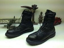 BLACK LEATHER BELLVILLE GICB MILITARY MOTORCYCLE BIKER LACE UP BOOTS SIZE 12 M/R
