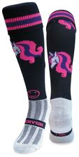 WackySox Rugby Socks, Hockey Socks - Pink Unicorn