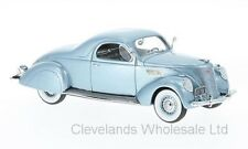 NEO 1/43 LINCOLN ZEPHYR COUPE METALLIC LIGHT BLUE 1937