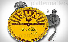 Ltd.Edition SUN RECORDS Elvis Presley Signed 7 or 12 inch Turntable Platter MAT