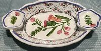 Estate Hand Made In Portugal Hand Painted  Ceramic Small Oval Platter Dish*