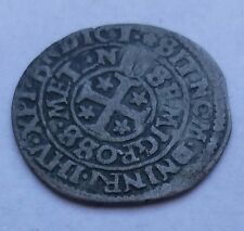 1716. French Medieval coins, LORRAINE, City of Metz, Demi gros  1648 (Nf-