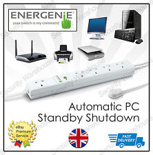 STANDBY Energy Power SAVER 5 Way Gang SOCKETS Extension Lead PC Computer PLUG