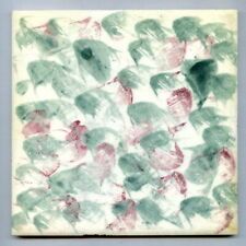 "Hand painted 6""sq studio tile by Florian Studios, 1961"