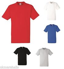 3 Pack Fruit of the Loom Heavy Cotton T Shirts S - XXXL