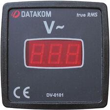 DATAKOM DV-0101 72x72 Painel Voltímetro Digital (1 Fase)