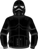 Star Wars Shadow Trooper Costume Zip up Eye Holes Hoodie Jacket Shirt