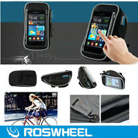 ROSWHEEL Bike Bicycle Cycle Touch Screen Handlebar Stem Phone Saddle Bag Holder