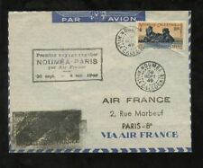 NEW CALEDONIA 1949 AIR FRANCE 1st REGULAR FLIGHT PARIS