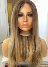 GORGEOUS OMBRE 100% Human Hair Wig WAY better than Freedom Couture