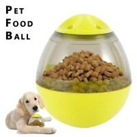 Dog Pet Food Dispenser Feeder Toy Ball Cat Puppy Slow Treat Training Interactive