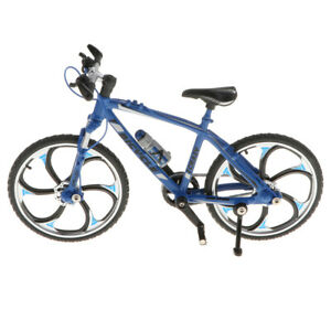 1/10 bicycle bike miniature model money gift kids toys collection blue