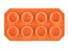 Chakra Silicone Mold Set, 8 Chakra symbols, 30mm, 12mm depth