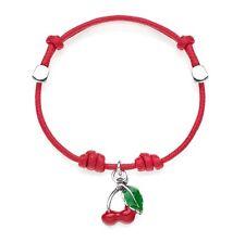 Gioielli Dop Cherries Cord Bracelet - Sterling Silver 25117