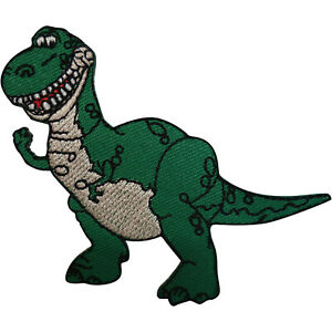 Disney Toy Story Rex Patch T Rex Dinosaur Embroidered Badge Iron On Sew On TRex