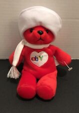 "ebay Red BETSY BEAR Bean Bag Plush Toy 8"" Tall Limited Edition Holiday 2000"