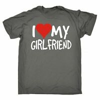 funny mens t shirts Love My Girlfriend T-SHIRT Boyfriend Dating Present birthday