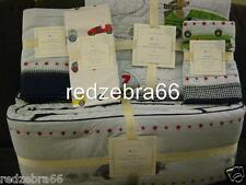 Pottery Barn Kids Roadster Race Car Nursery Crib Quilt Bumper Sheet Sham Set 5pc