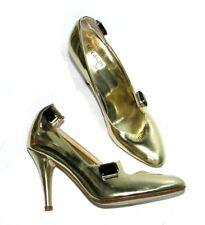 Damen Pumps Stöckelschuhe gold Te Casan Limited Edition Leder Design NY 100