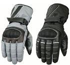 New Mens Cordura Motorbike Motorcycle Gloves Hipora Lining Waterproof Reflective