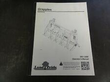Land Pride Sgc0548 Grapples Operators Manual 380 138m