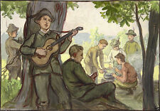 Künstlerische Malerei von 1900-1949 auf Papier im Impressionismus-Stil