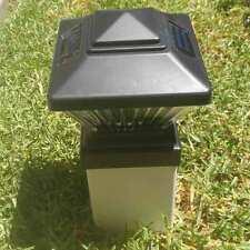 12 Pack - Matte Black Color Square Solar Light Post Cap 4x4 PVC Fence PL246
