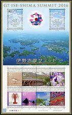 Japan 2016 Ise-Shima G7 Gipfeltreffen Leuchtturm Vogel Brücke Blumen Insel MNH
