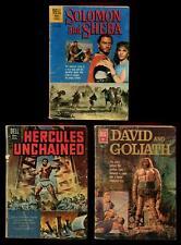 Dell 4 Color Movie Comics: DAVID & GOLIATH, SOLOMON & SHEBA, HERCULES UNCHAINED