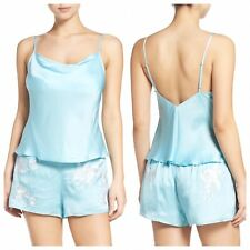 """NATORI """"Orchid"""" Embroidered Camisole Pajamas,Small, NWT, Retail $220"""