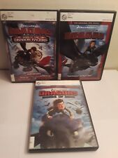 Lot of 3 How to Train Your Dragon DVDs: Riders of Berk, Dawn of Racers
