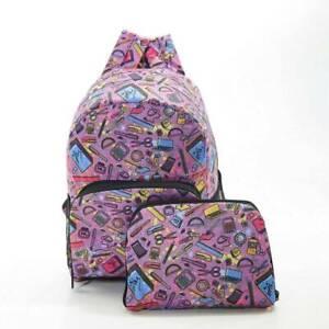 Purple Kids Design By Eco Chic MINI Folding Backpack
