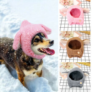 Cute Pet Costume Cosplay Dog Plush Padded Hat Warm Winter Puppy Hairy Clothes