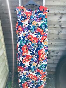 Ladies Marks & Spencer Per Una Speziale Italian Fabric Dress Size 18