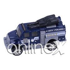 Coche Juguete Azul Policía Camión SWAT Escala 1:64 a1839