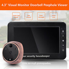"4.3"" Visual Monitor Doorbell Peephole Viewer Night Camera Video Motion Detection"