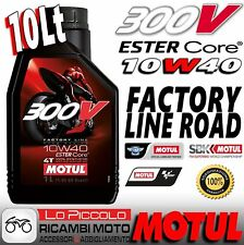 10 LITROS ACEITE MOTOR MOTUL 300V 300 V 10W40 10 W 40 100% SINTÉTICO FACTORY