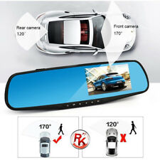 "Dual Lens HD 1080P 4.3"" Car DVR Rearview Mirror Camera Dash Cam Video Recorder"