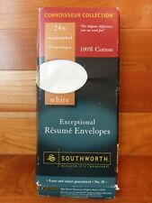 Southworth Exceptional Resume Envelopes White Sz No. 10 25 ct Watermarked Cotton