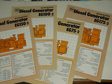 Lot 4 Prospectus DIESEL GENERATOR  KOMATSU Motor camion  brochure catalogue  TP