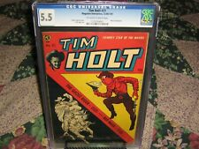 TIM HOLT #21 CGC 5.5 OFF-WHITE to WHITE PAGES GHOST RIDER & RED MASK 1950