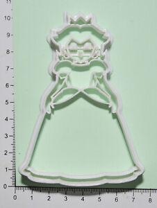 Princess peach Cookie or fondant  Cutter 3d printed