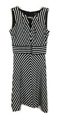 White House Black Market Womens Dress Size 2 Striped Sleeveless A Line WHBM 0921