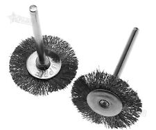 10Pcs Silver Steel Wire Wheel Polish 22mm Brushes Tool For Rotary Grinder