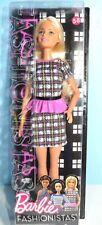 Barbie Fashionistas Doll 58 Peplum Power New in Box Blonde Plaid Dress