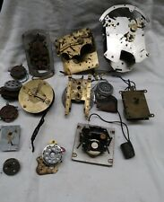 Electric Clock Movements, Parts And Motors For Parts As Is