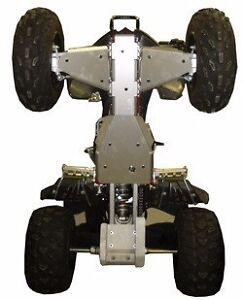 Ricochet Off-Road 4 PC Complete Skid Plate Set, 2005-2015 Yamaha Raptor 350