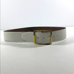 Two Tone Reversible Cowhide Belt Brown White